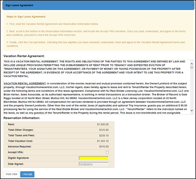 164 Sign Lease Agreement Knowledge Base
